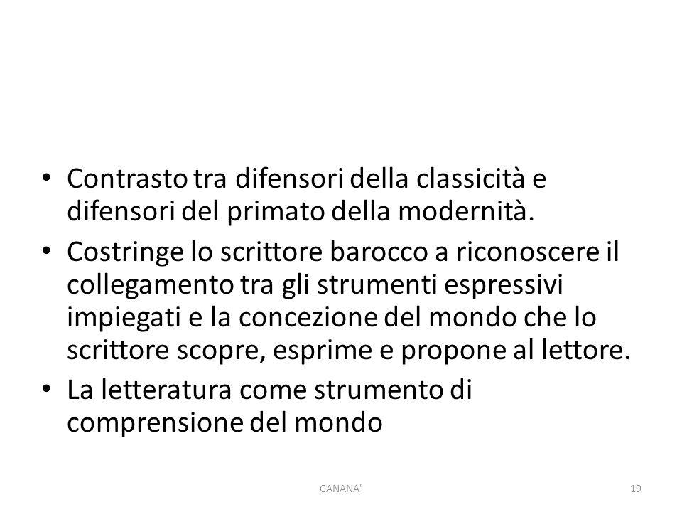 Contrasto tra difensori della classicità e difensori del primato della modernità.