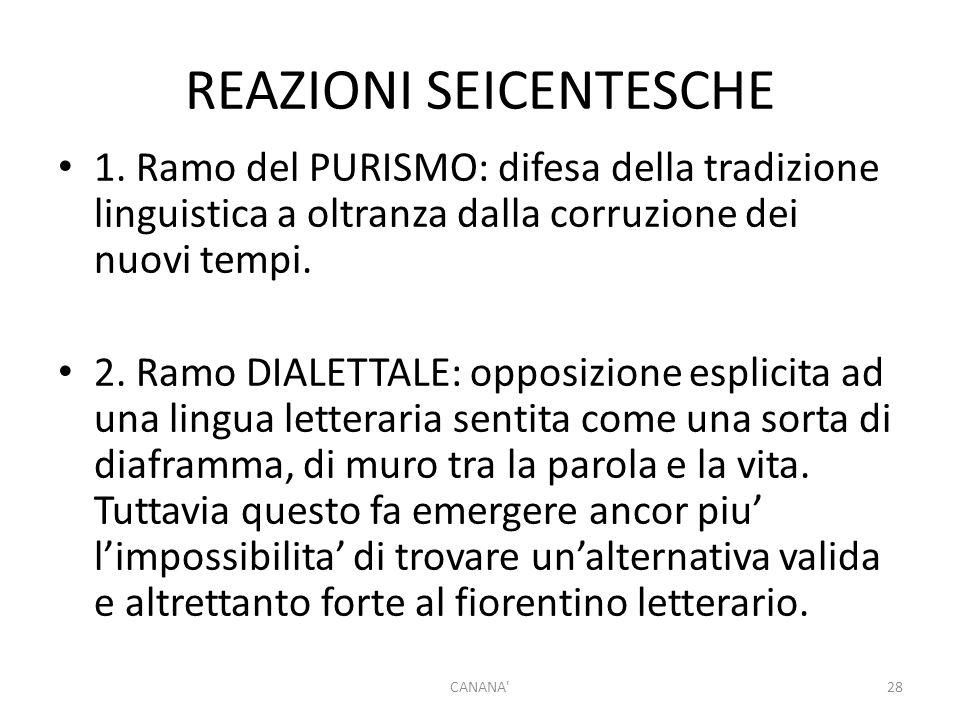 REAZIONI SEICENTESCHE 1.