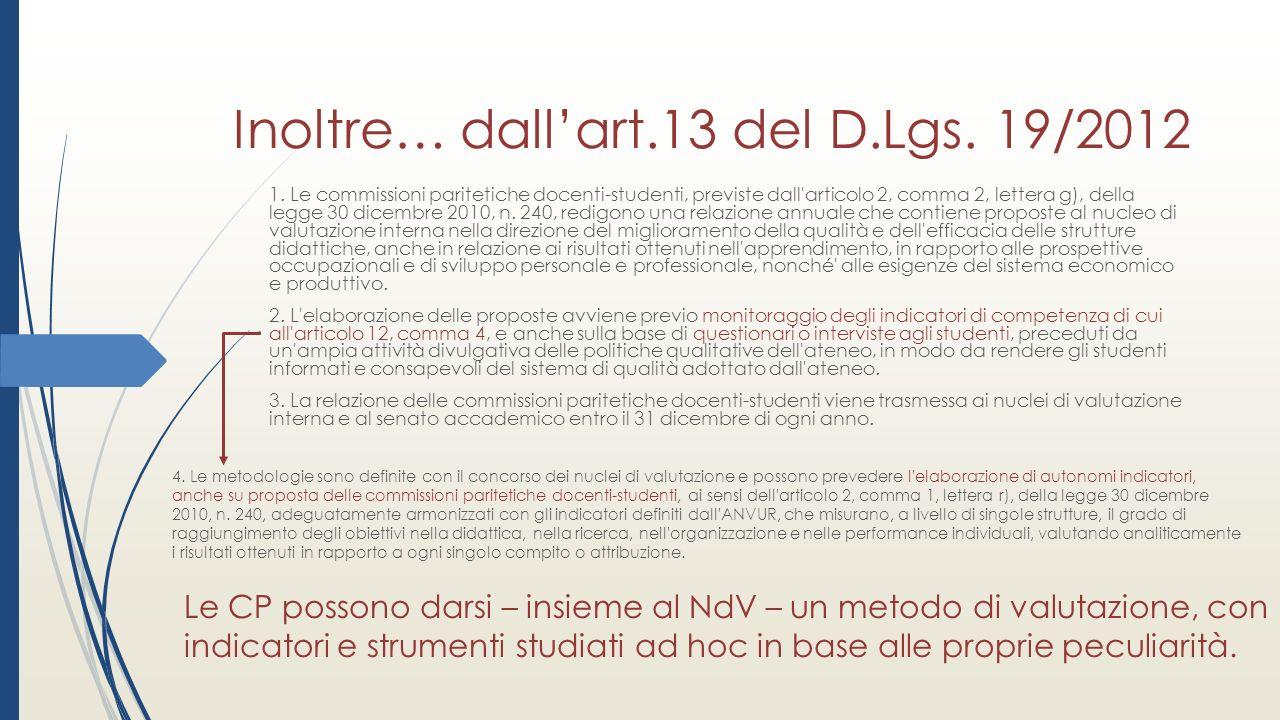 Inoltre… dall'art.13 del D.Lgs. 19/2012 1.