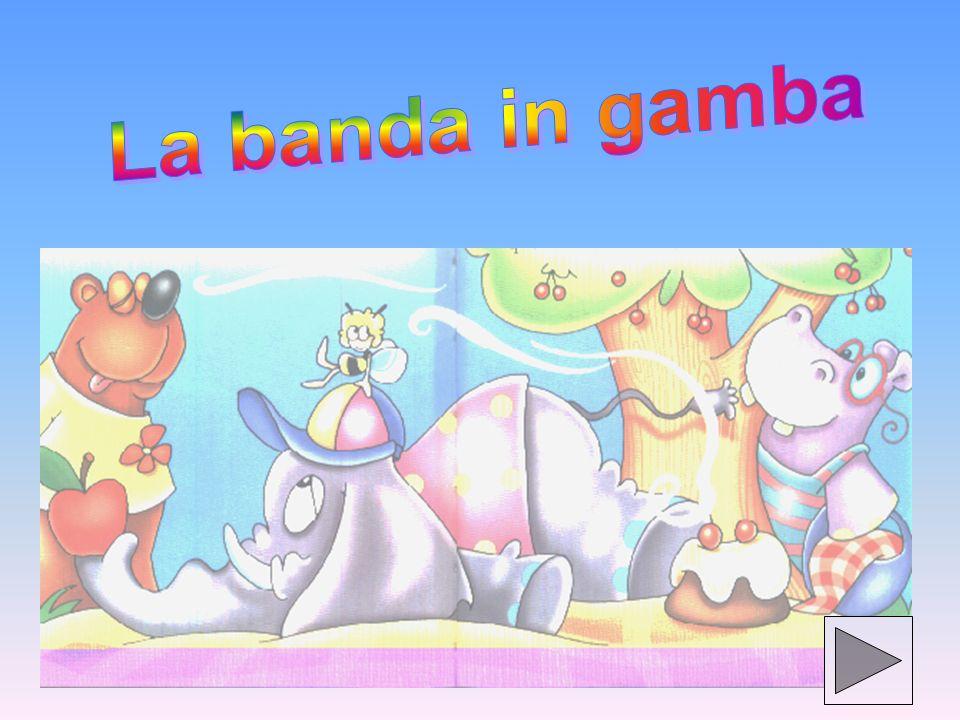 In un bel giorno di primavera, la Banda in Gamba era sotto il ciliegio a fare merenda.