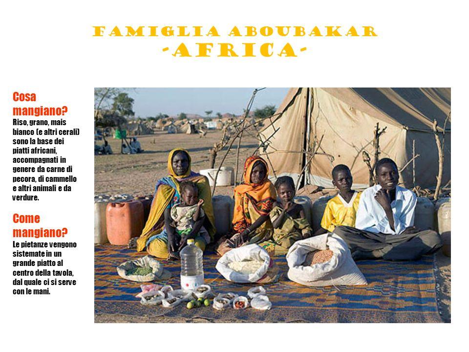 Famiglia aboubakar -africa- Cosa mangiano.