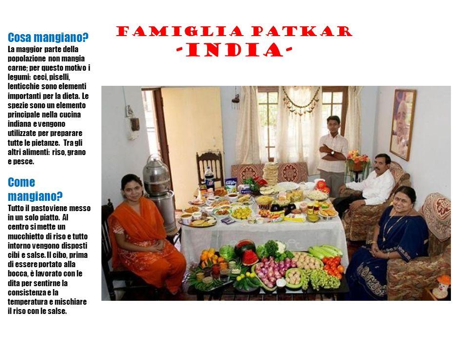 Famiglia patkar -india- Cosa mangiano.