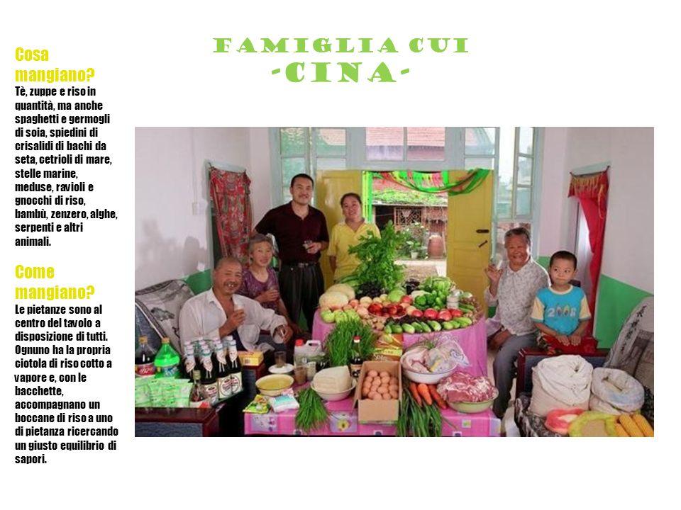 Famiglia cui -cina- Cosa mangiano.