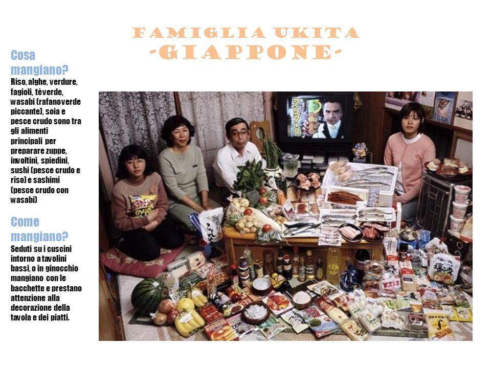 Famiglia ukita -giappone- Cosa mangiano.