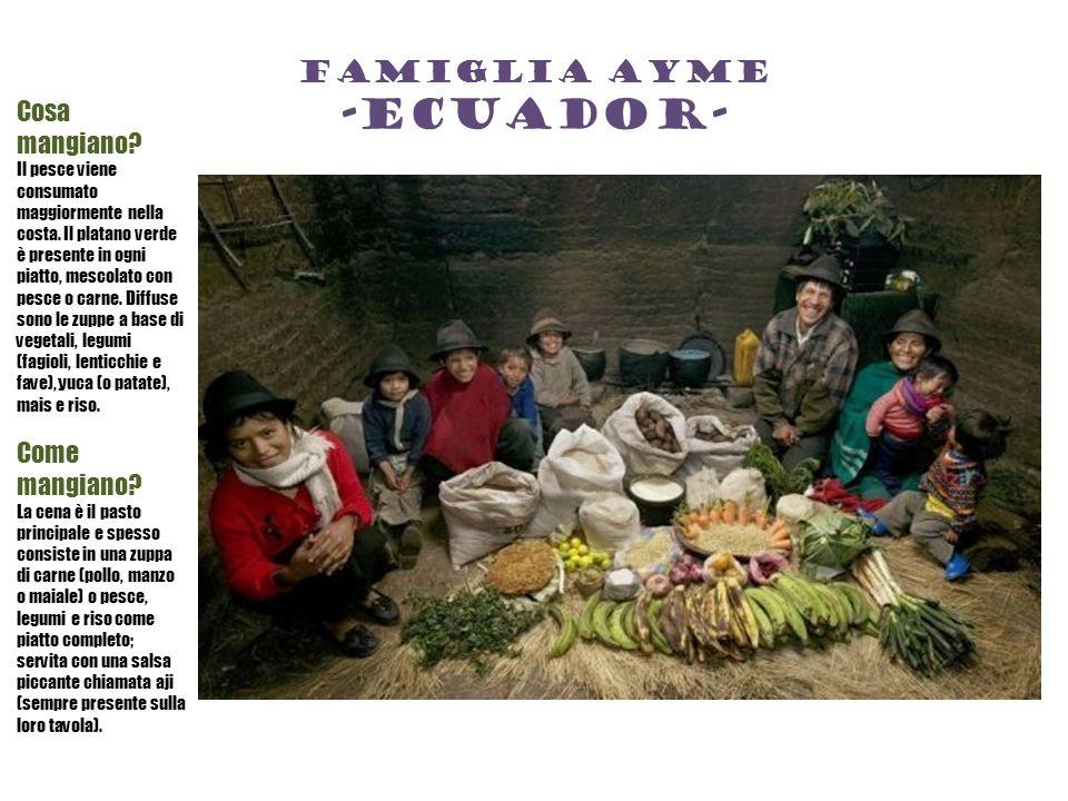 Famiglia ayme -ecuador- Cosa mangiano.Il pesce viene consumato maggiormente nella costa.