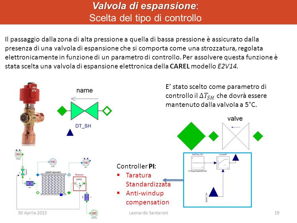 Valvola di espansione Valvola di espansione: Scelta del tipo di controllo Il passaggio dalla zona di alta pressione a quella di bassa pressione è assicurato dalla presenza di una valvola di espansione che si comporta come una strozzatura, regolata elettronicamente in funzione di un parametro di controllo.