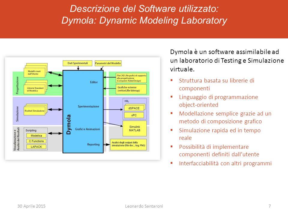 Descrizione del Software utilizzato: Dymola: Dynamic Modeling Laboratory Dymola è un software assimilabile ad un laboratorio di Testing e Simulazione virtuale.