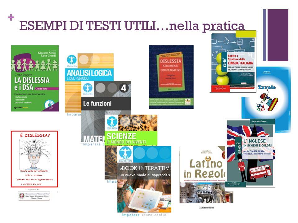 + ESEMPI DI TESTI UTILI…nella pratica