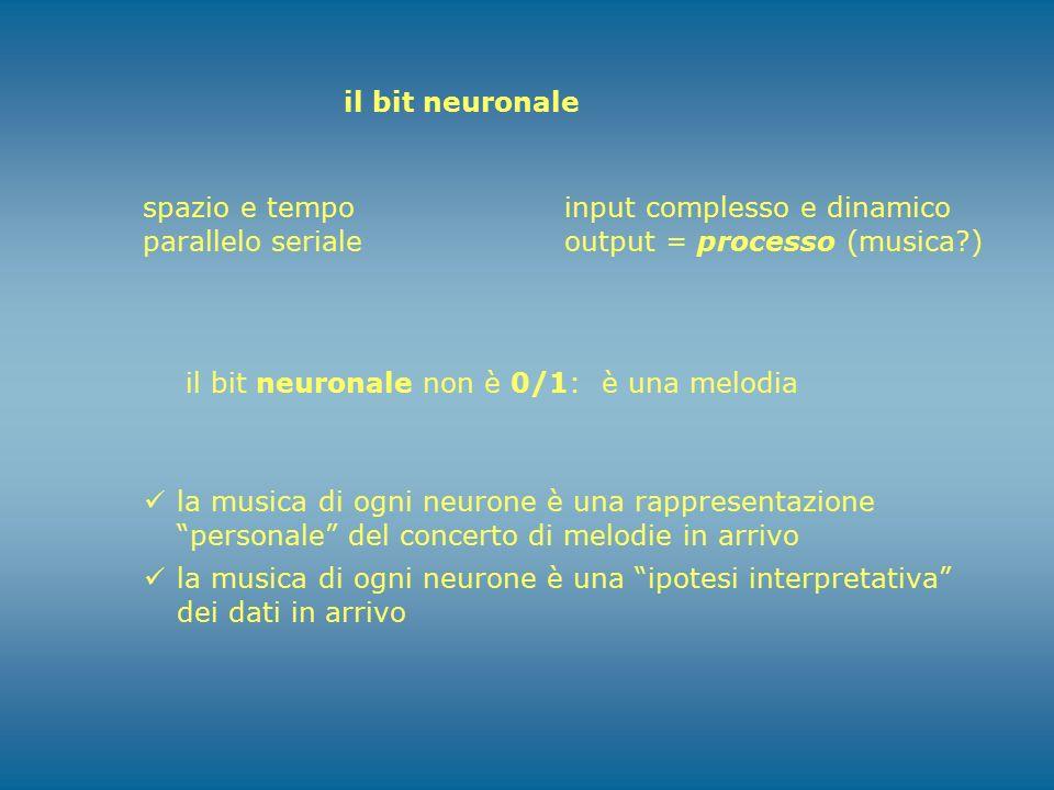 """il bit neuronale la musica di ogni neurone è una rappresentazione """"personale"""" del concerto di melodie in arrivo la musica di ogni neurone è una """"ipote"""