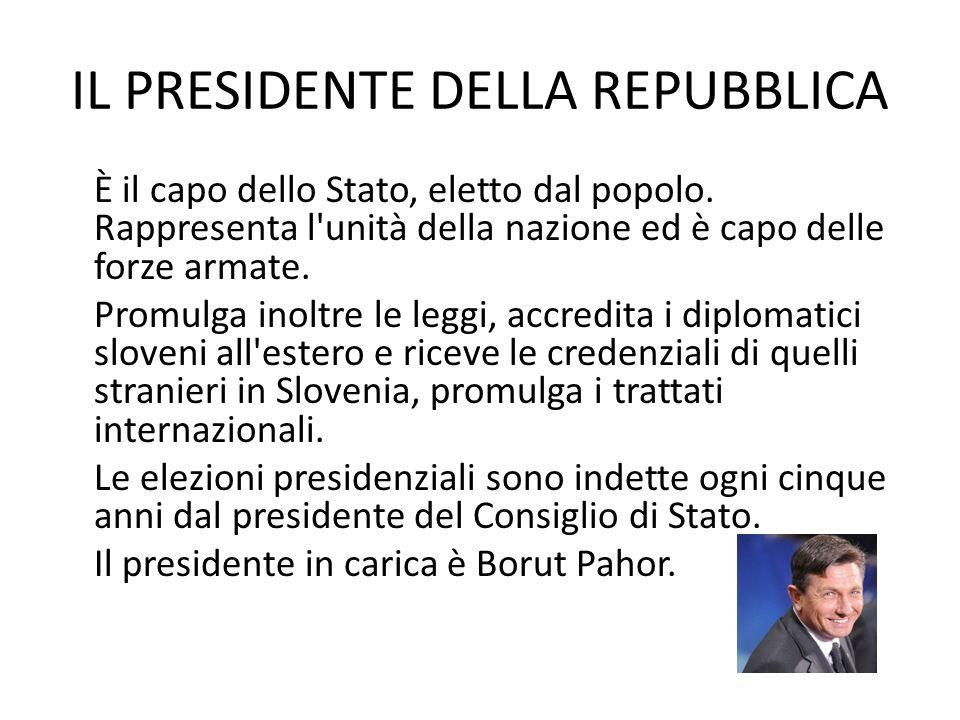 IL PRESIDENTE DELLA REPUBBLICA È il capo dello Stato, eletto dal popolo.