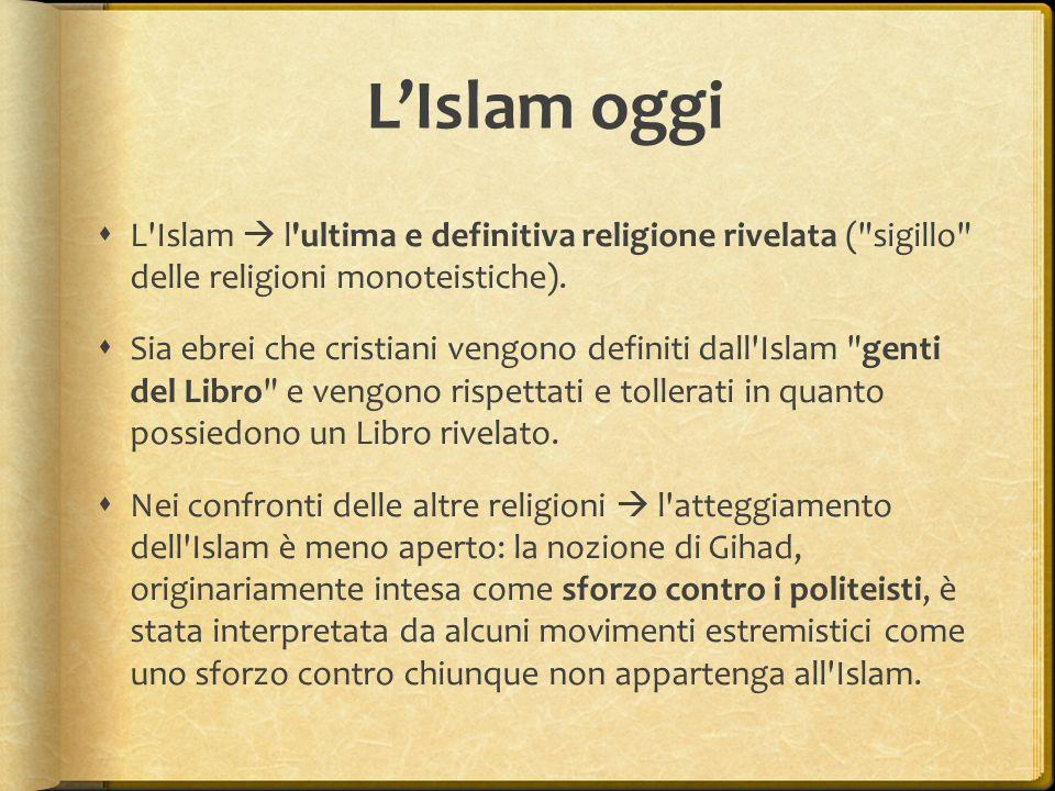L'Islam oggi  L'Islam  l'ultima e definitiva religione rivelata (
