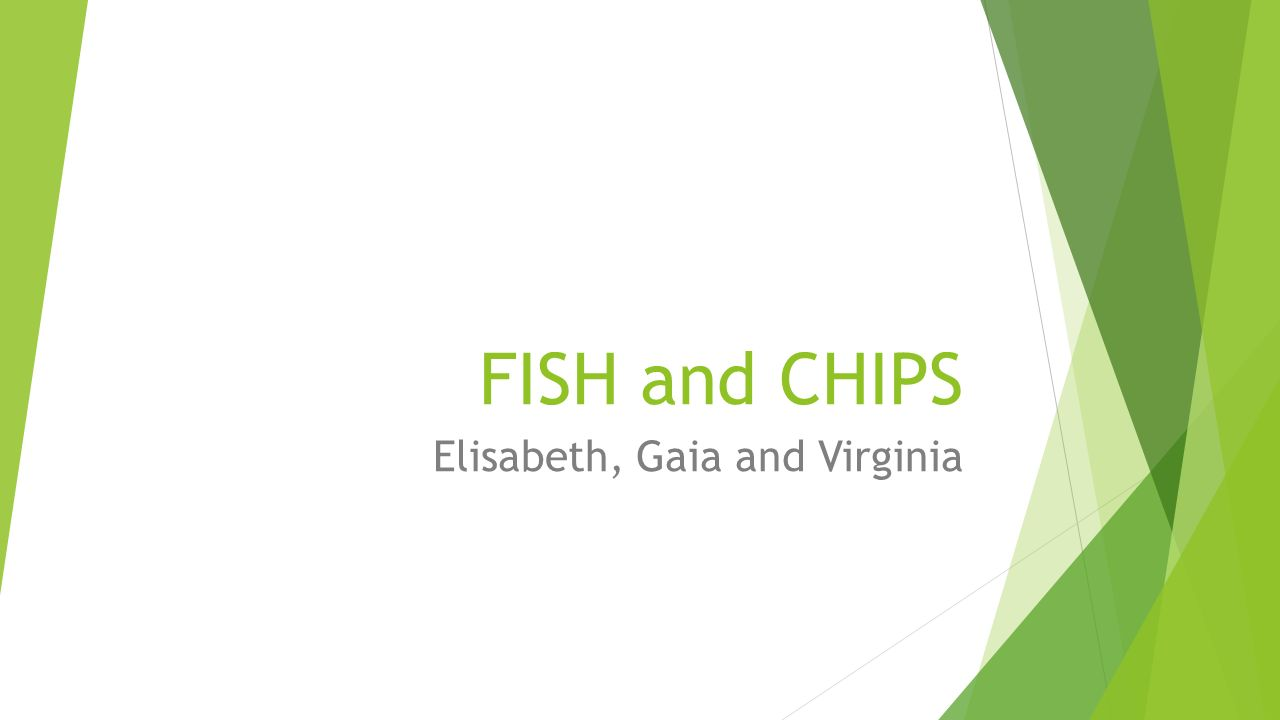 FISH and CHIPS Elisabeth, Gaia and Virginia