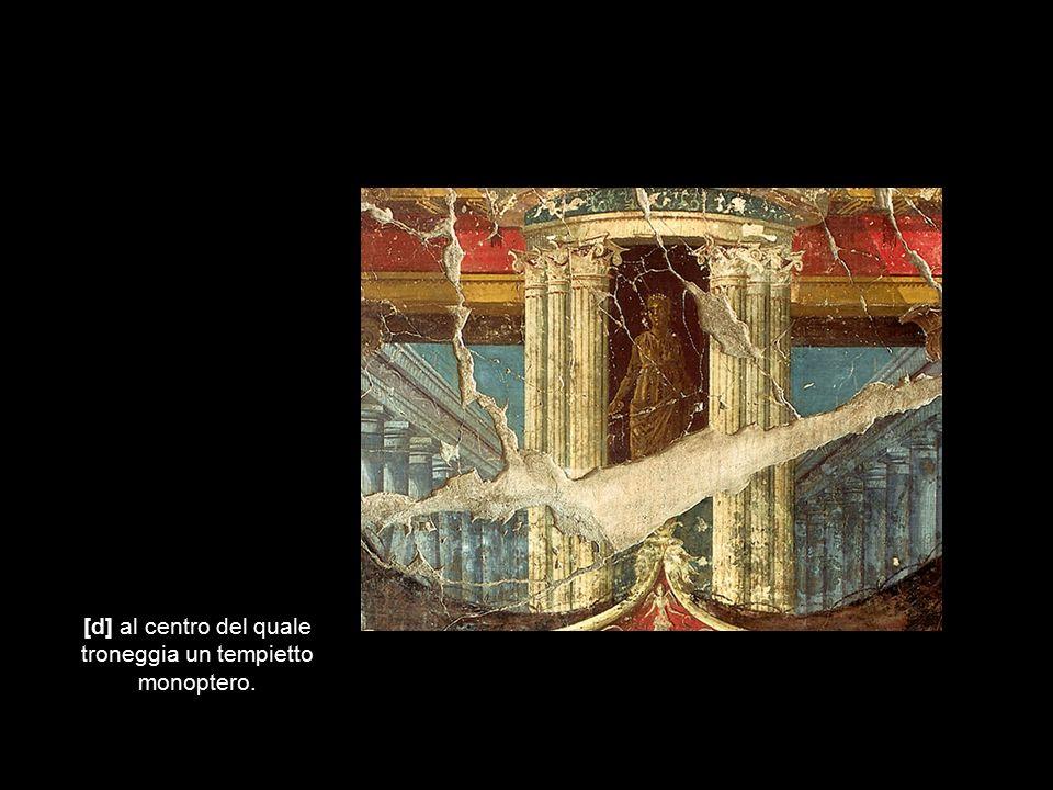 [e] Fra le colonne sono disposti anfore e clipei.