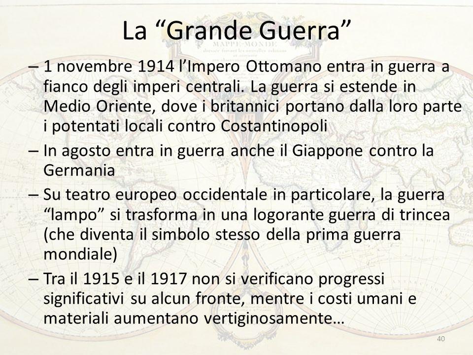 La Grande Guerra 40 – 1 novembre 1914 l'Impero Ottomano entra in guerra a fianco degli imperi centrali.