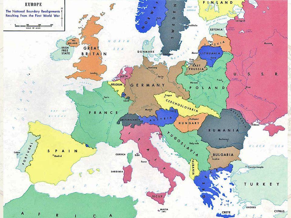 Pace con l'Austria Dissoluzione dell'impero Austro-Ungarico Austria circoscritta al territorio abitato da popolazioni di lingua tedesca Nascono Cecoslovacchia e Ungheria, territori alla Romania e alla neonata Jugoslavia Divieto di unificazione con la Germania Anche l'Ungheria riceve un trattamento durissimo 64