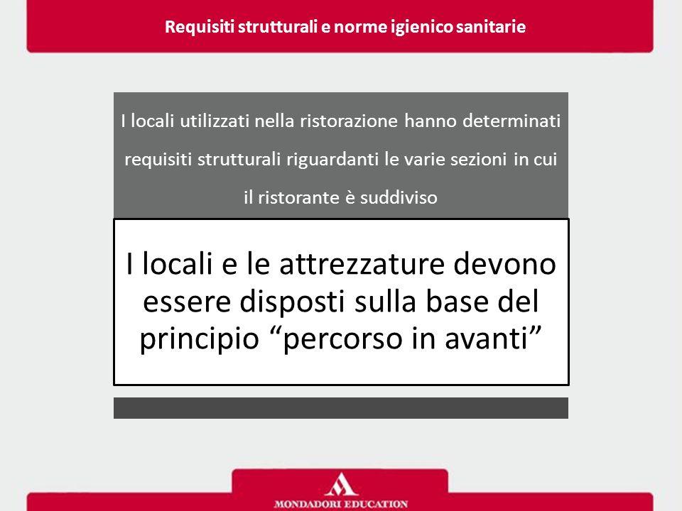 I locali utilizzati nella ristorazione hanno determinati requisiti strutturali riguardanti le varie sezioni in cui il ristorante è suddiviso I locali
