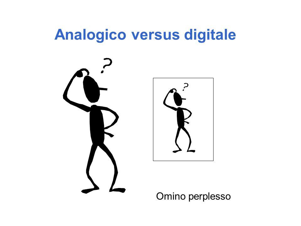 Analogico versus digitale Omino perplesso