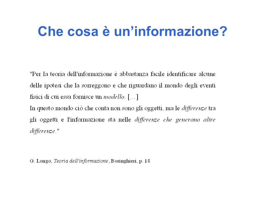 Che cosa è un'informazione?