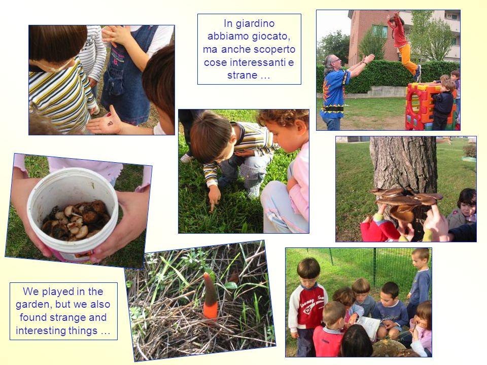 In giardino abbiamo giocato, ma anche scoperto cose interessanti e strane … We played in the garden, but we also found strange and interesting things …