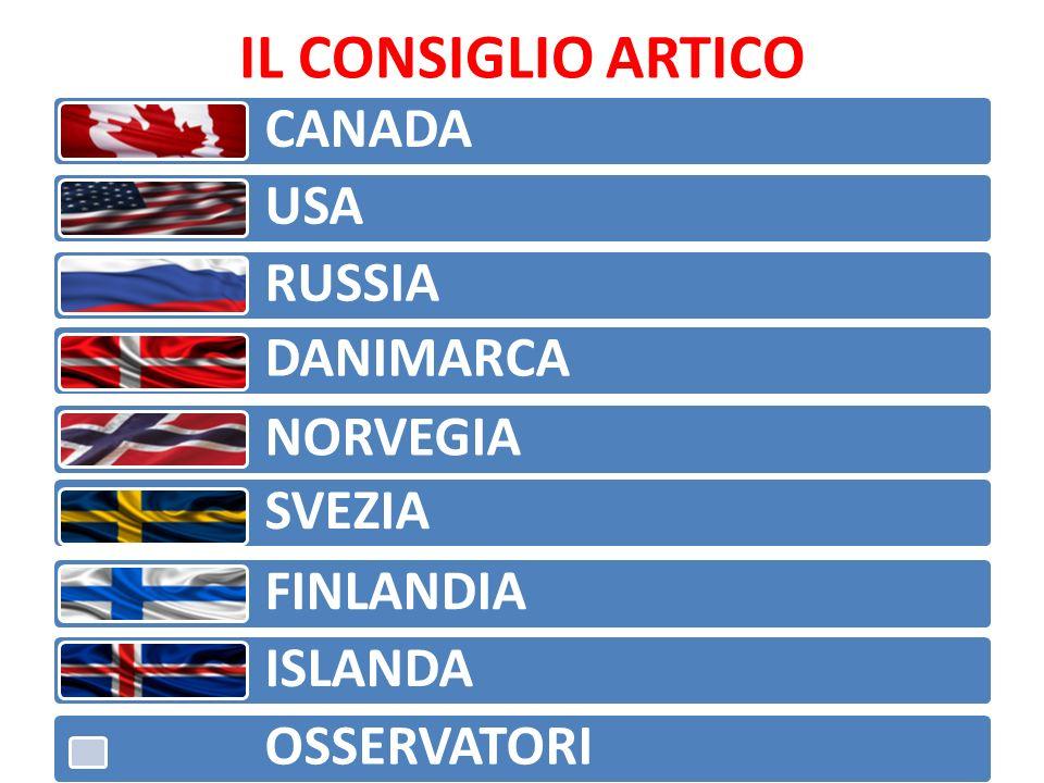 IL CONSIGLIO ARTICO CANADA USA RUSSIA DANIMARCA NORVEGIA SVEZIA FINLANDIA ISLANDA OSSERVATORI