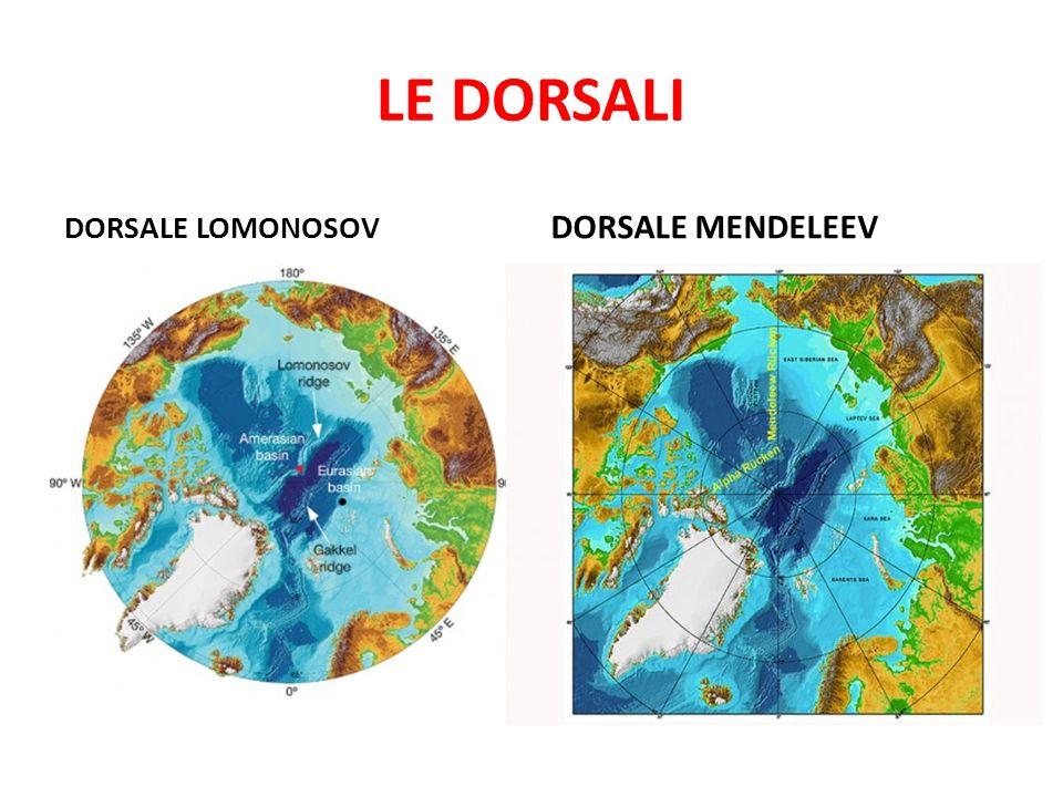 LE DORSALI DORSALE LOMONOSOV DORSALE MENDELEEV