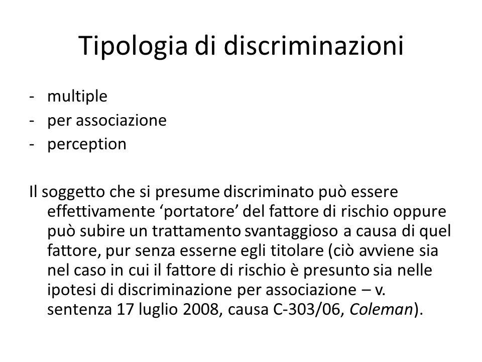 Ambito di applicazione dei principi di non discriminazione I principi di non discriminazione possono essere invocati: -nei confronti di un provvedimento di uno Stato membro o dell'Unione europea: il sindacato antidiscriminatorio costituisce il c.