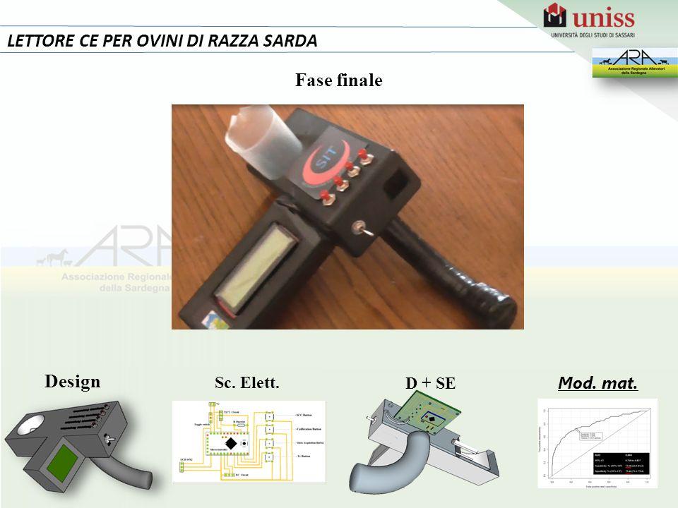 LETTORE CE PER OVINI DI RAZZA SARDA Fase finale D + SE Design Sc. Elett. Mod. mat.