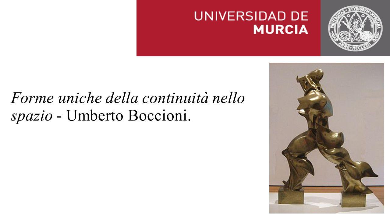 Forme uniche della continuità nello spazio - Umberto Boccioni.