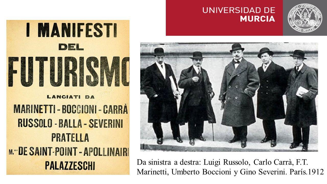 Da sinistra a destra: Luigi Russolo, Carlo Carrà, F.T.