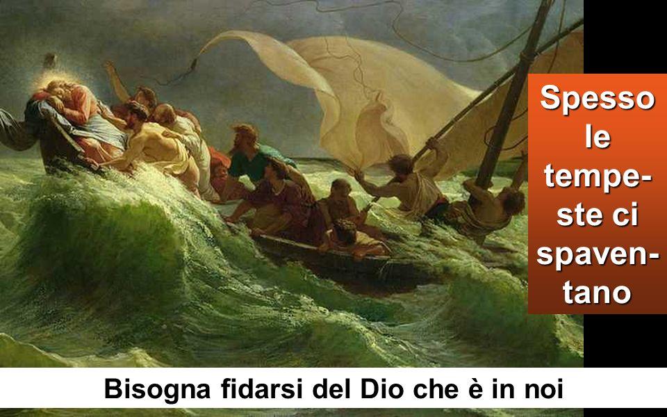 Ci fu una grande tempesta di vento e le onde si rovesciavano nella barca, tanto che ormai era piena.
