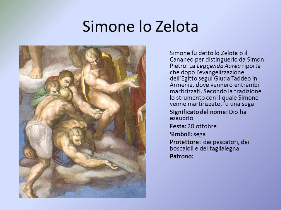 Simone lo Zelota Simone fu detto lo Zelota o il Cananeo per distinguerlo da Simon Pietro.