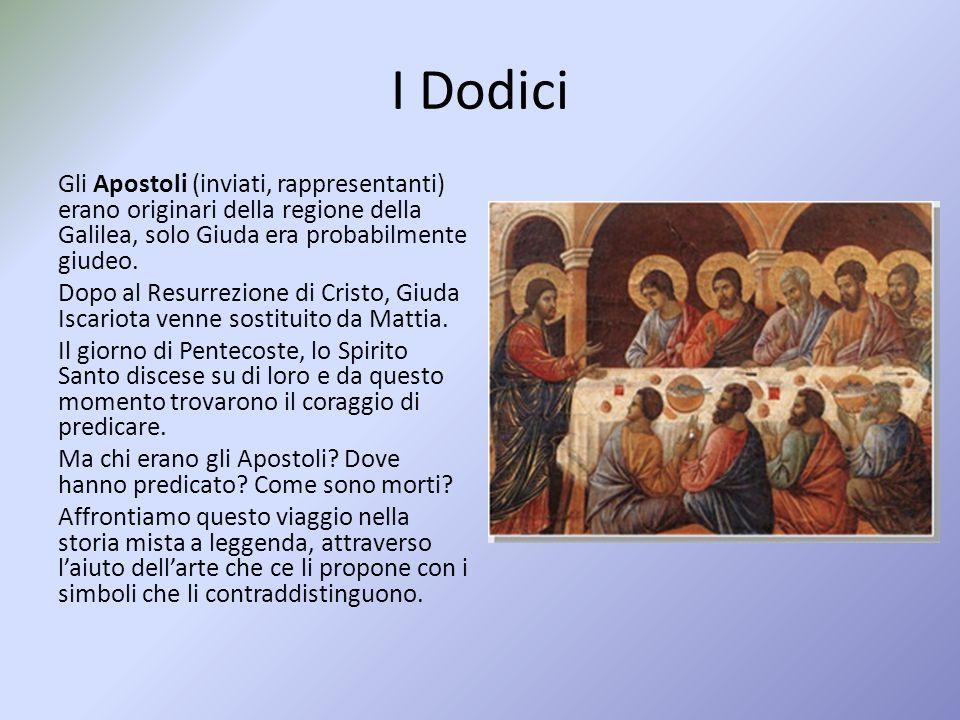 I Dodici Gli Apostoli (inviati, rappresentanti) erano originari della regione della Galilea, solo Giuda era probabilmente giudeo.