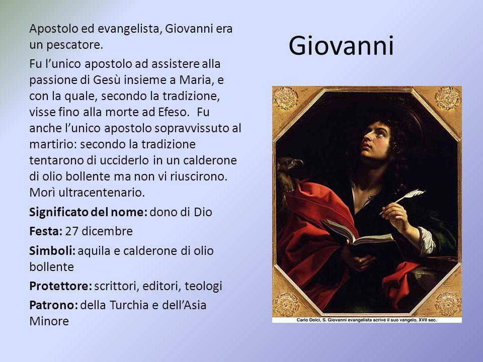 Giovanni Apostolo ed evangelista, Giovanni era un pescatore.