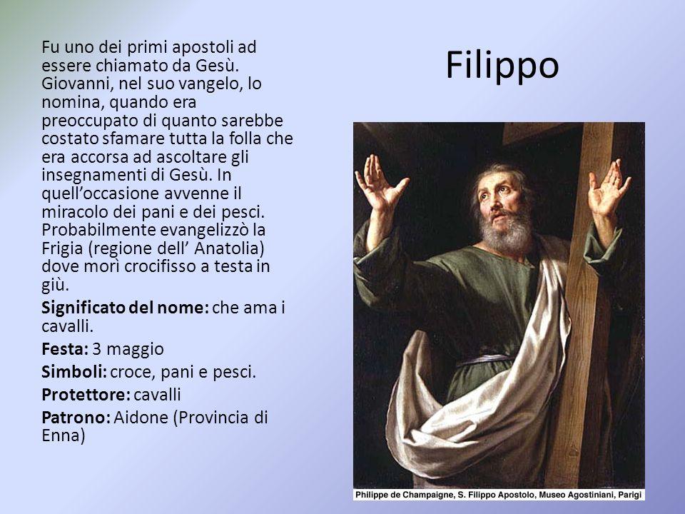 Filippo Fu uno dei primi apostoli ad essere chiamato da Gesù.