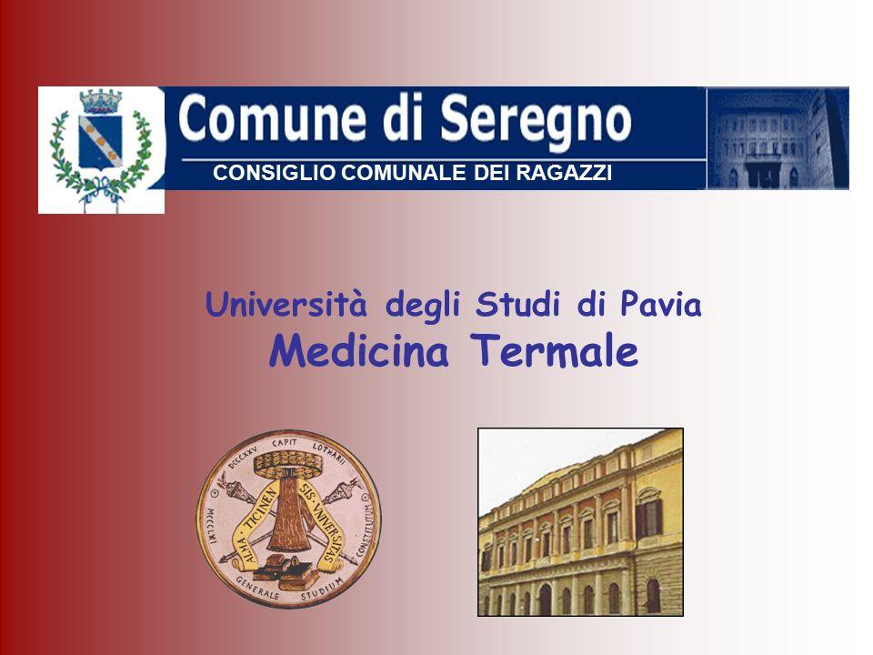 Università degli Studi di Pavia Medicina Termale CONSIGLIO COMUNALE DEI RAGAZZI