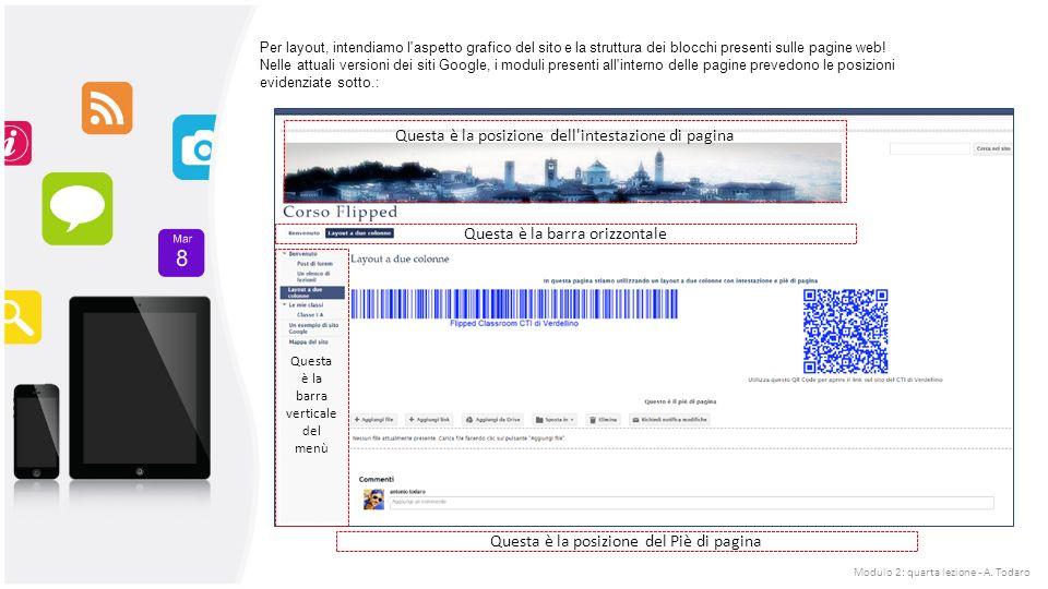 Per layout, intendiamo l aspetto grafico del sito e la struttura dei blocchi presenti sulle pagine web.