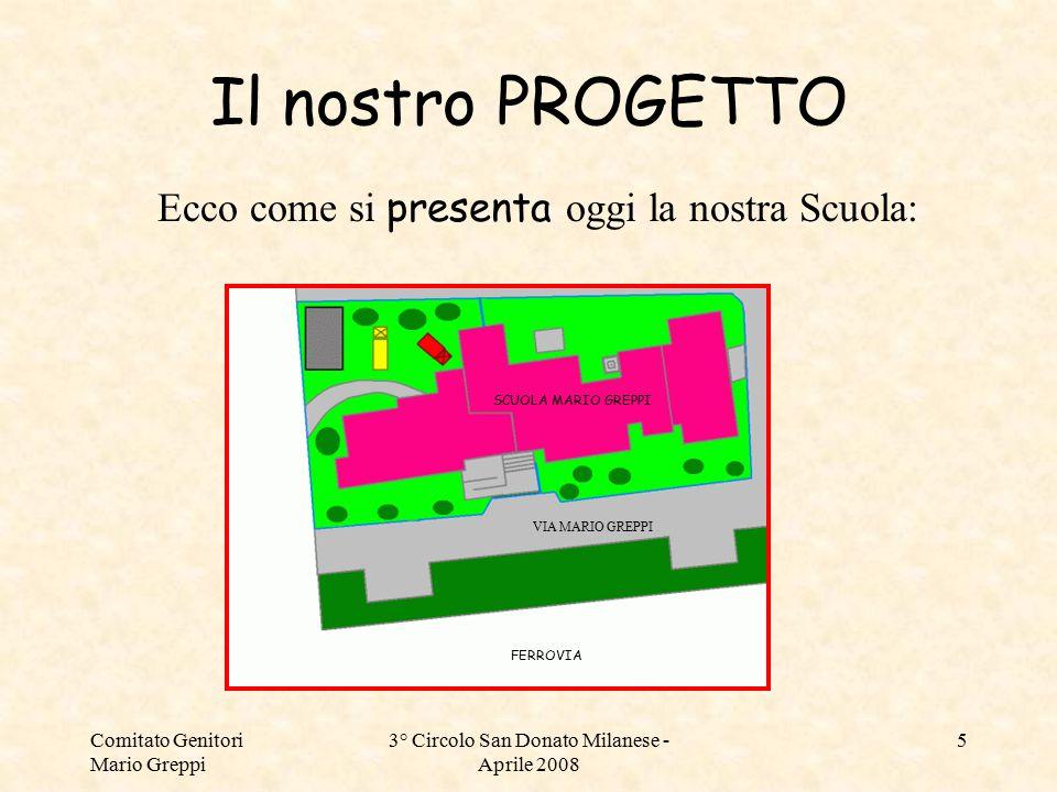 Comitato Genitori Mario Greppi 3° Circolo San Donato Milanese - Aprile 2008 5 Il nostro PROGETTO Ecco come si presenta oggi la nostra Scuola: SCUOLA M