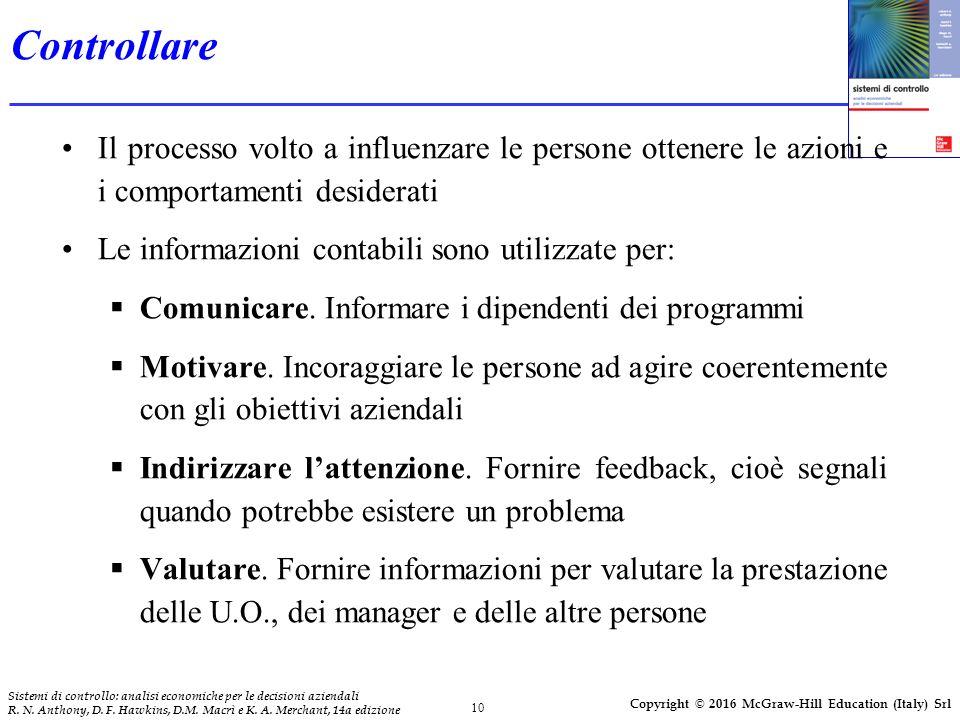 10 Sistemi di controllo: analisi economiche per le decisioni aziendali R.