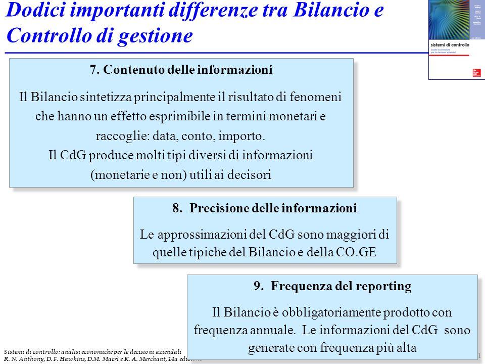 18 Sistemi di controllo: analisi economiche per le decisioni aziendali R.