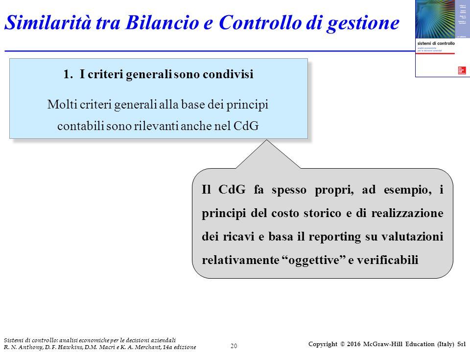 20 Sistemi di controllo: analisi economiche per le decisioni aziendali R.