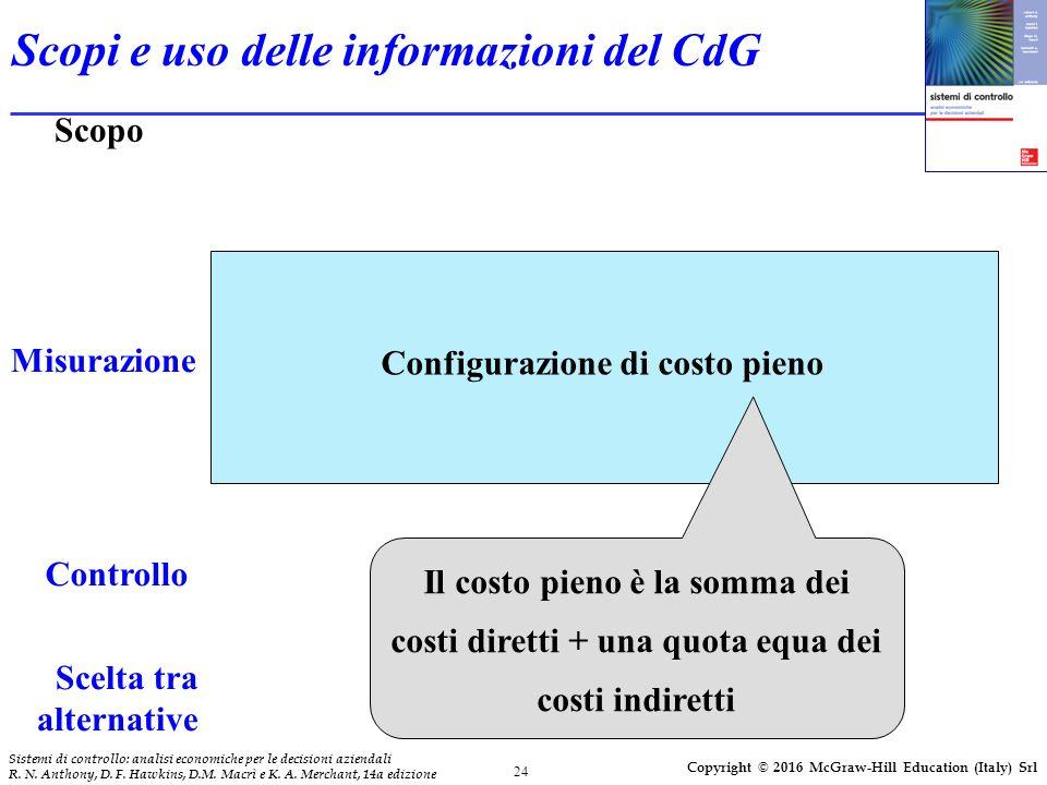 24 Sistemi di controllo: analisi economiche per le decisioni aziendali R.
