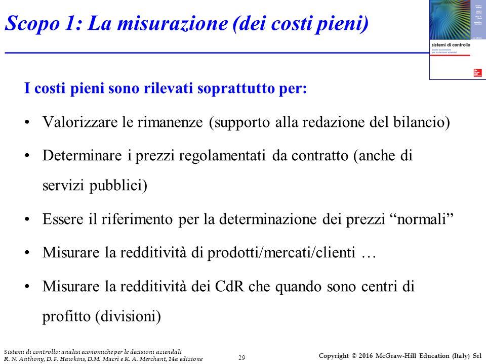 29 Sistemi di controllo: analisi economiche per le decisioni aziendali R.