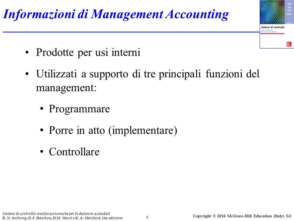 6 Sistemi di controllo: analisi economiche per le decisioni aziendali R.
