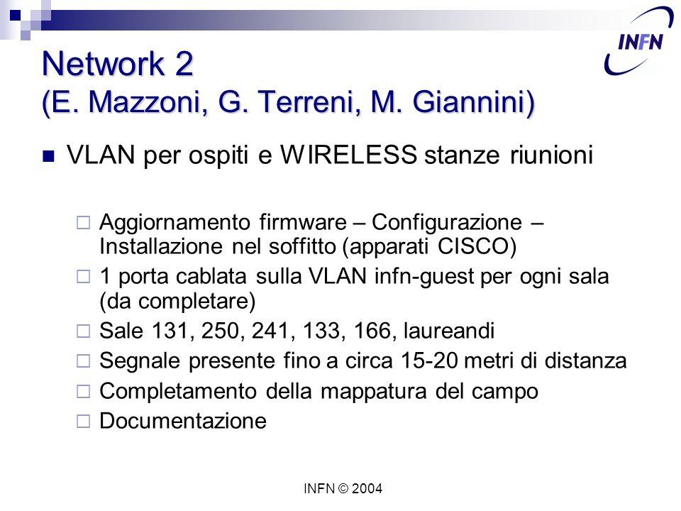 INFN © 2004 Network 2 (E. Mazzoni, G. Terreni, M.