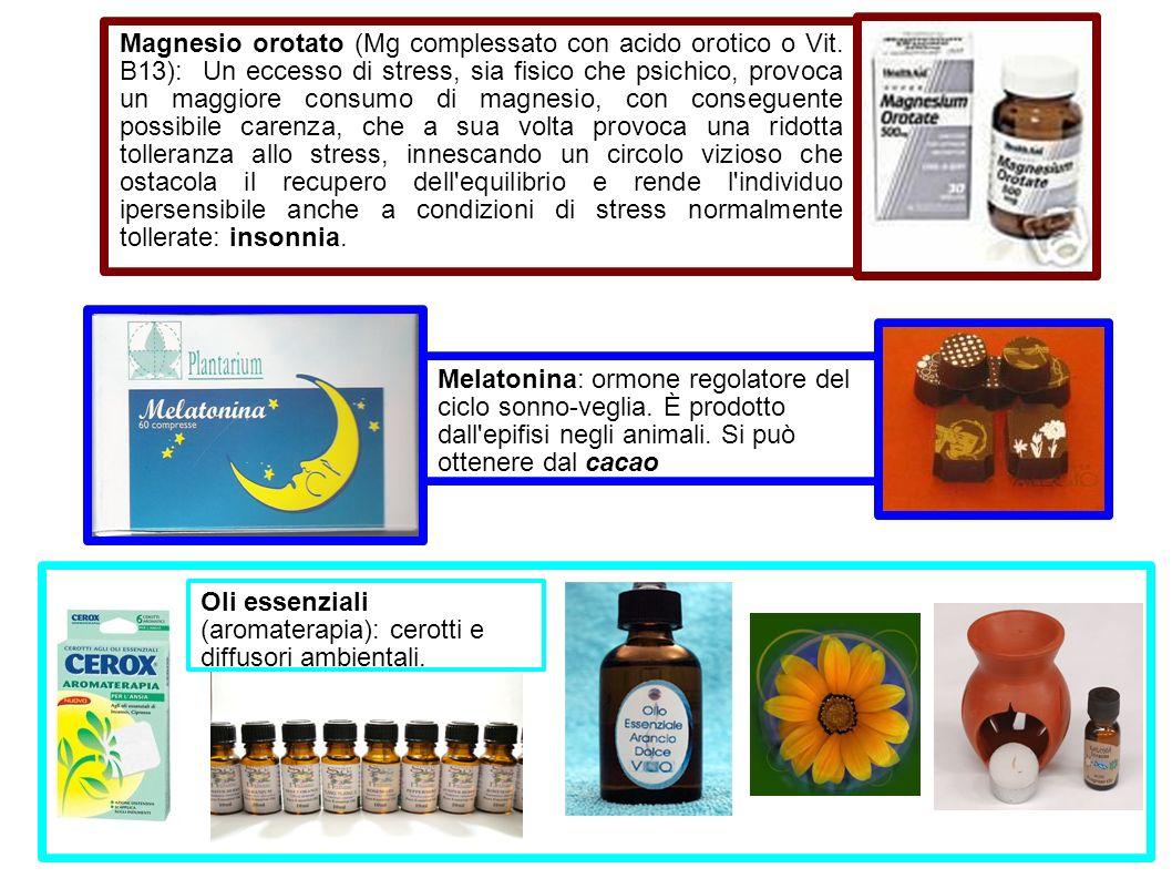 Magnesio orotato (Mg complessato con acido orotico o Vit. B13): Un eccesso di stress, sia fisico che psichico, provoca un maggiore consumo di magnesio