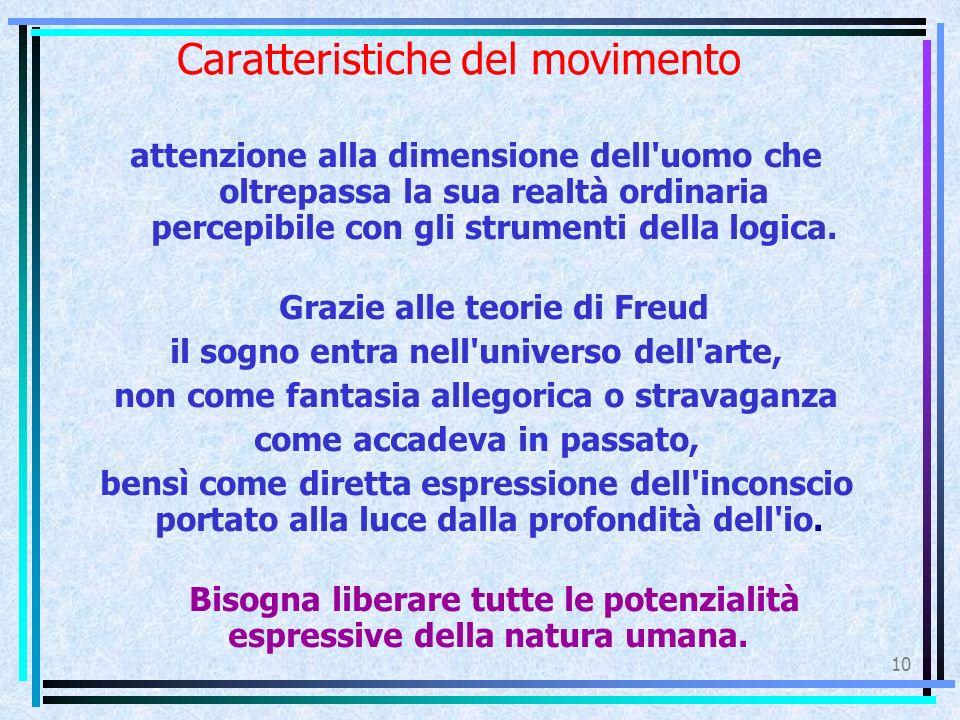 10 Caratteristiche del movimento attenzione alla dimensione dell uomo che oltrepassa la sua realtà ordinaria percepibile con gli strumenti della logica.