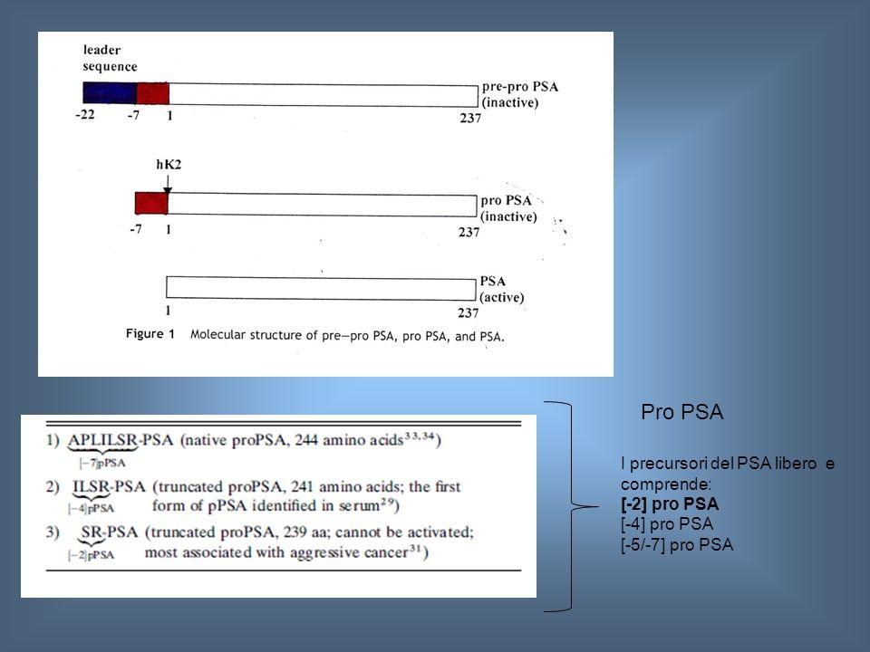 FIG 1 ART 1 Pro PSA I precursori del PSA libero e comprende: [-2] pro PSA [-4] pro PSA [-5/-7] pro PSA