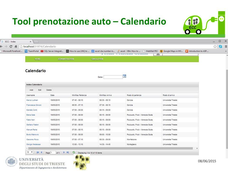 08/06/2015 Tool prenotazione auto – Calendario
