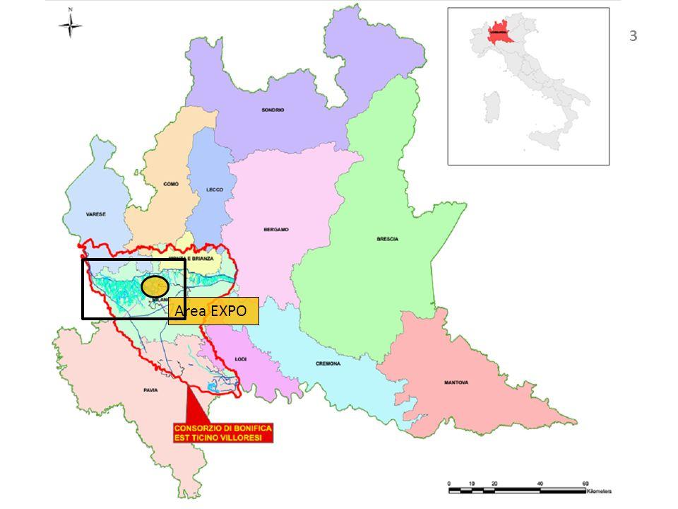 INQUADRAMENTO TERRITORIALE 4 -Sito espositivo: 110 ha -Torrente Seveso: portata media 1,8 m³/s -Canale Scolmatore NO: portata 30m³/s -Canale Villoresi: portata teorica di 90m³/s -Naviglio Grande: portata da 60 a 14 m³/s -Naviglio Pavese: portata da 7 a 1,7m³/s, -Irrigui N.