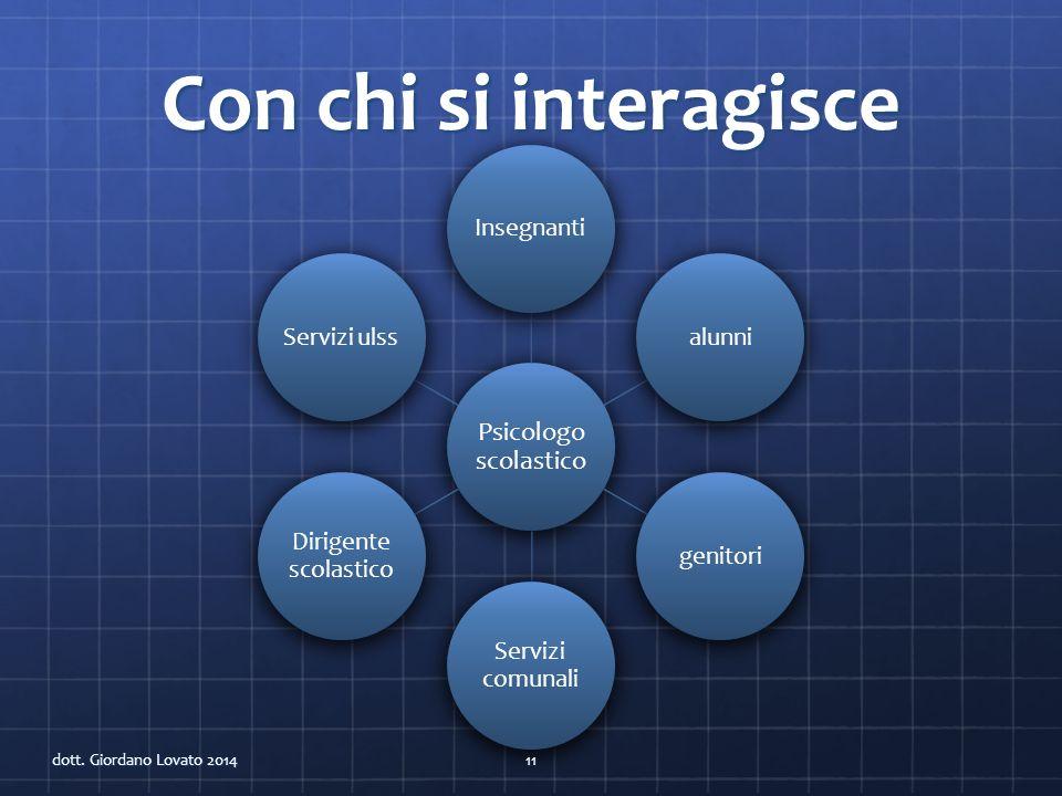 PSICOLOGIA SCOLASTICA dott. Giordano Lovato 201412